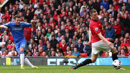 Juan Mata's strike took a deflection off Phil Jones