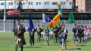 Leitrim and New York started off the Championship season at Gaelic Park in New York