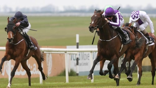 Camelot and Joseph O'Brien (r) were victorious on their first return to the track since 7 October last