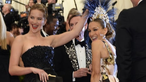 Jennifer Lawrence and Sarah Jessica Parker at the MET Ball