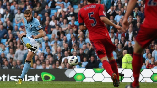 Edin Dzeko grabbed the only goal of the game at the Etihad Stadium