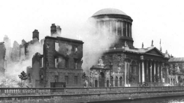 The newsreels include footage of the shelling of the Four Courts by the Irish Free State Army