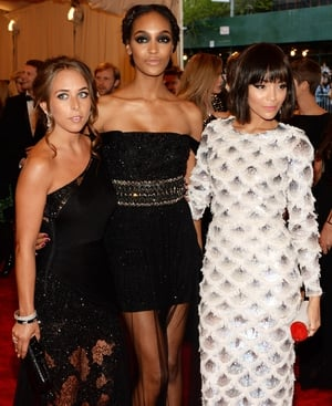 Heiress to the Topshop empire Chloe Green, supermodel Jourdan Dunn and actress Ashley Madekwe