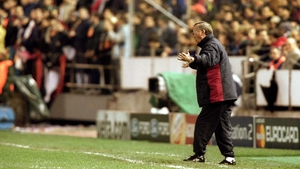 Losing his cool during a Champions League match in '01