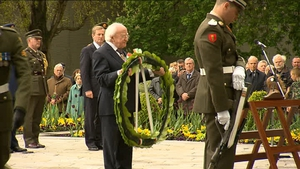 President Higgins laid a wreath to commemorate those who died during the Easter Rising