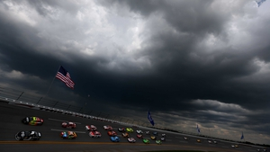 The NASCAR Sprint Cup Series Aaron's 499 at Talladega Superspeedway in Alabama