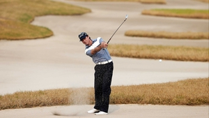 Brett Rumford of Australia during the final round of the Volvo China Open at Binhai Lake Golf Course