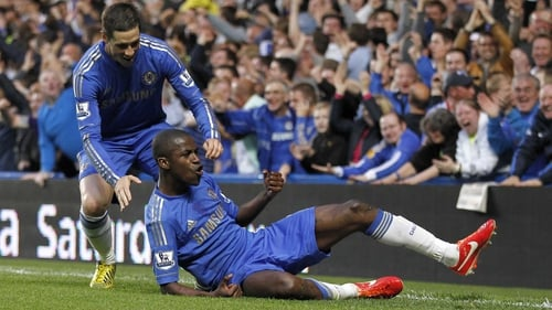 Ramires celebrates Chelsea's second goal of the night but it wasn't enough to secure the win