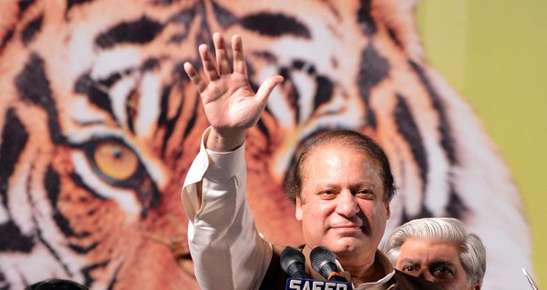 Nawaz Sharif is leading in early counts of ballots