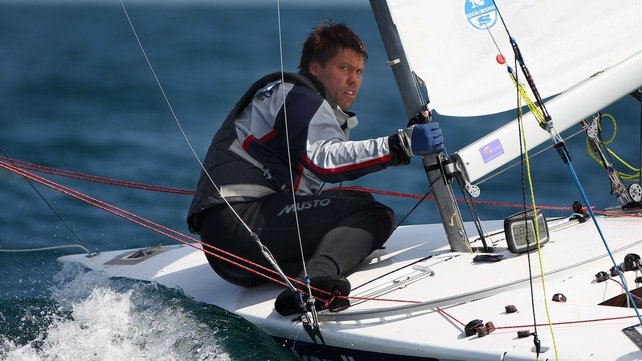 Andrew Simpson, seen here  in action during a Star Class practice race at Weymouth, has died
