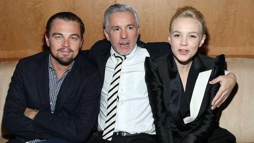 Carey Mulligan with co-star Leonardo DiCaprio and director Baz Luhrmann