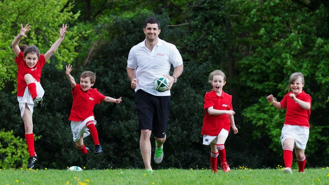 Rob Kearney was present at Kellogg's launch of their campaign in support of the IRFU