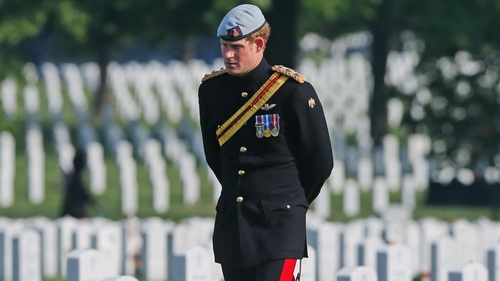 Prince Harry visits Section 60 of Arlington National Cemetery, Virginia