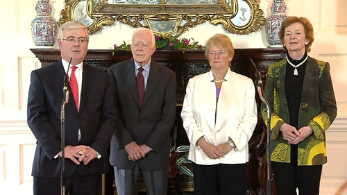 Eamon Gilmore was speaking after meeting The Elders at Iveagh House
