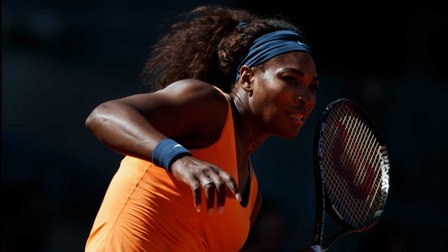 Defending champion Serena Williams