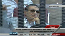 Mubarak back in Egyptian court for retrial