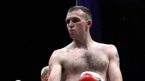 Michael Sweeney was defeated after three rounds in Glasgow