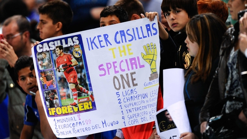 Some fans show their support for Iker Casillas