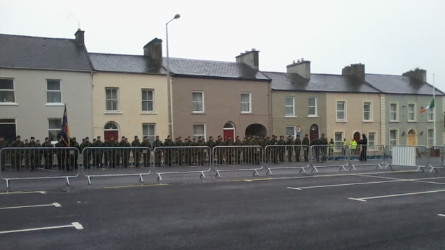 Members of the Defence Forces gathered in Kilrush, Co Clare for the event this afternoon