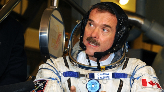 Chris Hadfield has built up a huge Twitter following during his time on the ISS