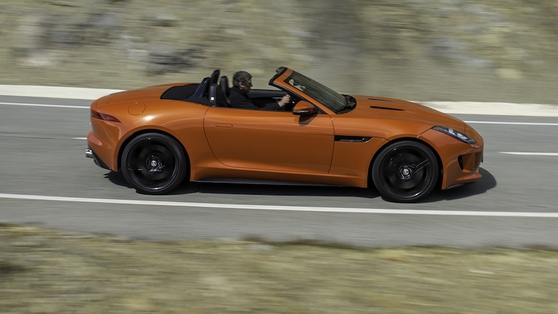 F-Type's exterior is breathtaking