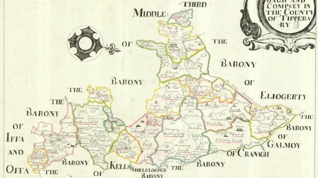 Barony of Slievardagh, Co Tipperary, Ireland. (Pic: Map Library, Trinity College Dublin)