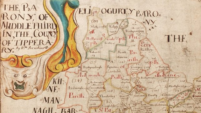 Barony of Middlethird, Co Tipperary, Ireland (Pic: The Quit Rent Office Collection at the National Archives of Ireland)