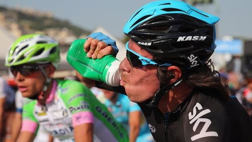 Rigoberto Uran won the 167-km mountain trek from Cordenons