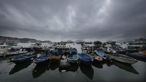 Fishing boats at Cheung Chau Island, on the first day of the Cheung Chau Bun Festival in Hong Kong