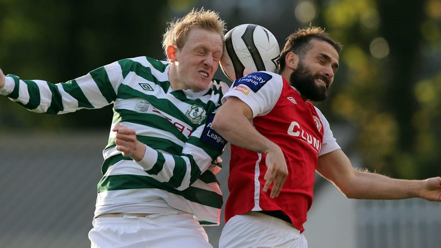 Derek Foran (left) will be wearing the red and white of St Pat's this season