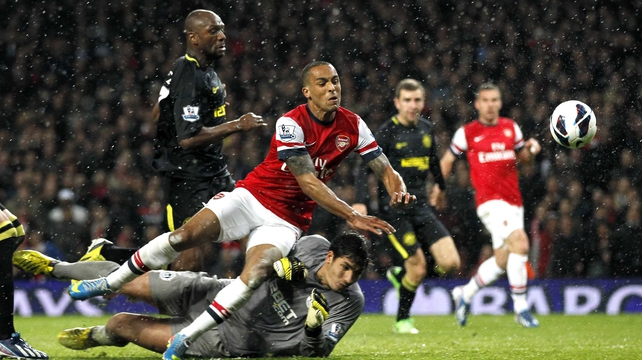 Theo Walcott scored Arsenal's second of the night