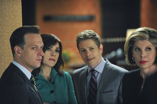 Alicia and Cary (centre) sue the NSA on The Good Wife