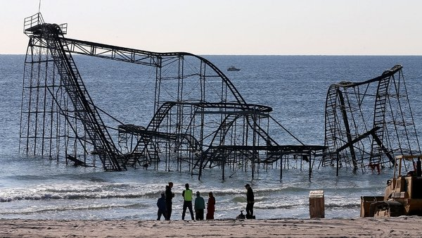 Images of the roller coaster have been used to sell memorabilia to raise money for storm victims