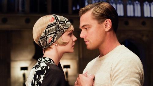 Carey Mulligan and Leonardo DiCaprio as Daisy Buchanan and Jay Gatsby