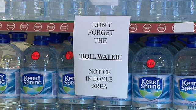Roscommon has had recurring boil water notices on its urban and rural water schemes
