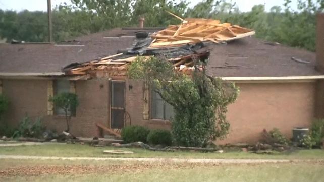 Dozens of homes were damaged