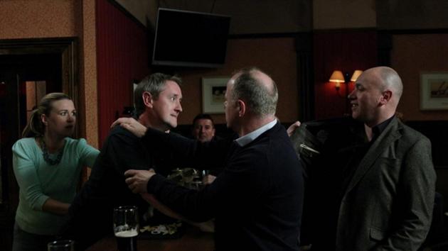 Wayne attacks Paul when he realises that he cost him his job