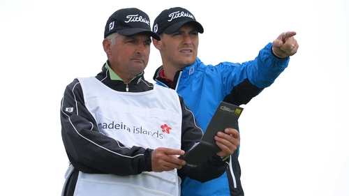 Lloyd Saltman is the surprise leader of the Madeira Islands Open
