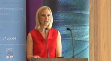Facebook Global Vice-President for Public Policy Marne Levine addresses the IIEA