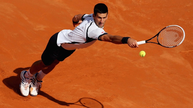 Novak Djokovic lost out 2-6 7-5 6-4 to Tomas Berdych at the Foro Italico