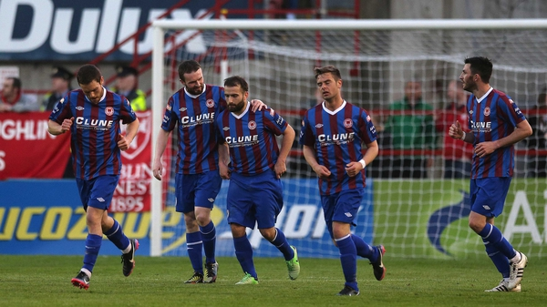 St Pat's are now level on points with Sligo Rovers at the top of the table