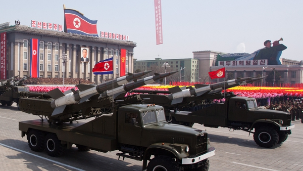 North Korea is reported to have fired three short-range missiles