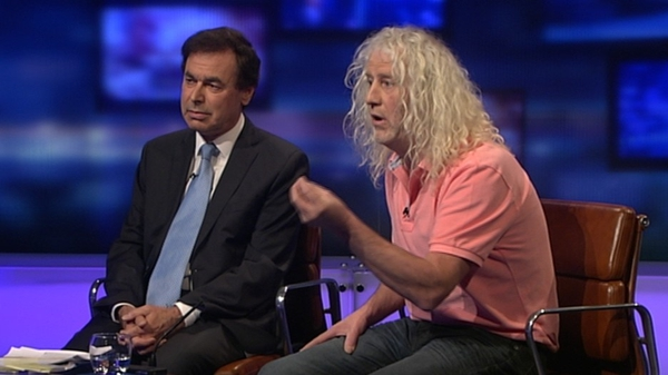 Alan Shatter and Mick Wallace clashed on RTÉ's Prime Time on Thursday night