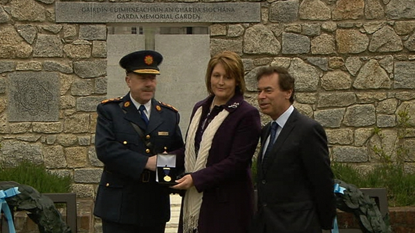 Caroline Donohoe was presented with the medal at Dublin Castle this morning