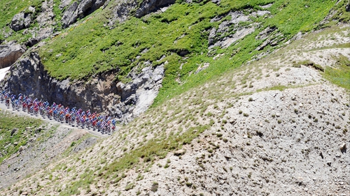 Plans to finish at the summit of Col du Galibier have had to be abandoned
