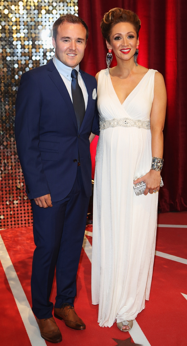 Alan Halsall with pregnant wife Lucy-Jo Hudson