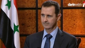 Bashar al-Assad challenged the US and France to provide proof that his regime was responsible for the attacks