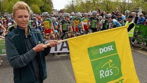 Audrey Breslin of Dunshaughlin, Co. Meath, at the start of the 2013 An Post Rás.