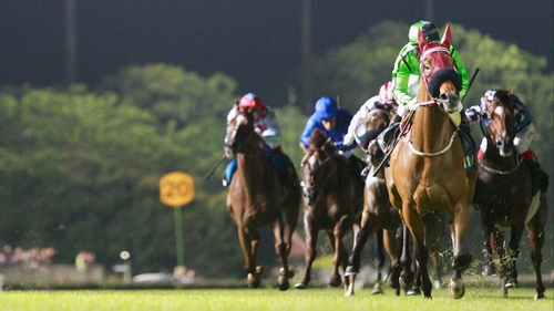 Military Attack raced clear in the Singapore Cup