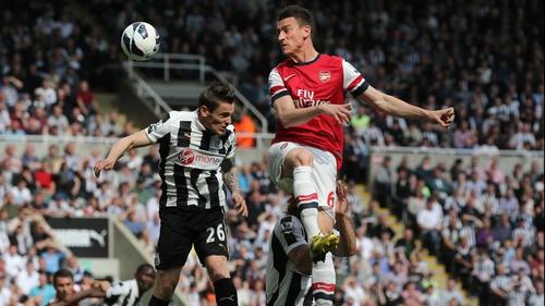 Laurent Koscielny rises highest for Arsenal